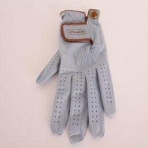 Coach Leather Light Blue Left-hand Golf Glove